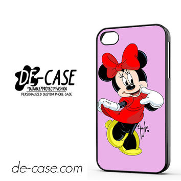 Minnie Mouse DEAL-7338 Apple Phonecase Cover For Iphone 4 / Iphone 4S