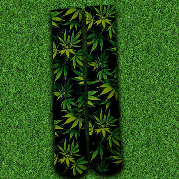 Weed Leaf Socks,Custom socks,Personalized socks,Elite socks