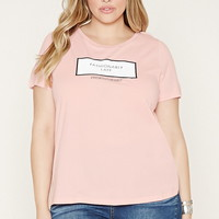 Plus Size Fashionably Late Tee | Forever 21 PLUS - 2000204767