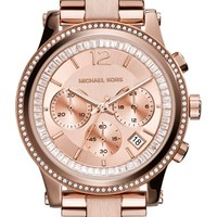 Women's MICHAEL Michael Kors 'Heidi' Chronograph Bracelet Watch, 40mm - Rose Gold