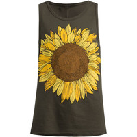 O'neill Sunflower Girls Tank Charcoal  In Sizes
