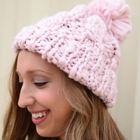Cozy As Can Be Beanie- Light Pink
