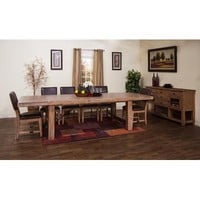 Sunny Designs Sandalwood Collection Eight Piece Dining Set In Sandalwood