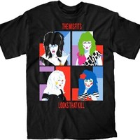Jem and the Holograms The Misfits Looks That Kill Adult Black T-Shirt
