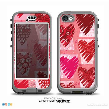 The Escaping Butterfly Floral Skin for the iPhone 5c nüüd LifeProof Case
