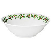 Bulk Holly Berry White Stoneware Bowls, 7 in. at DollarTree.com
