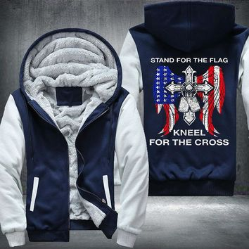 Stand for the Flag Kneel at the Cross Fleece/Bomber Jacket