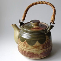 Vintage Japanese Stoneware Tea Pot