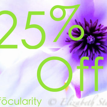All Items in Shop 25% off - Celebrating One Year
