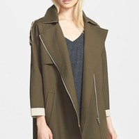 Women's Glamorous Zip Front Trench Coat