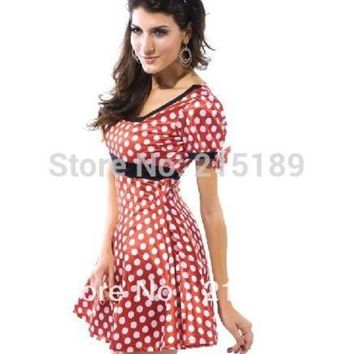 ESBONIS Christmas dress Red white dot y Minnie Mouse Ad