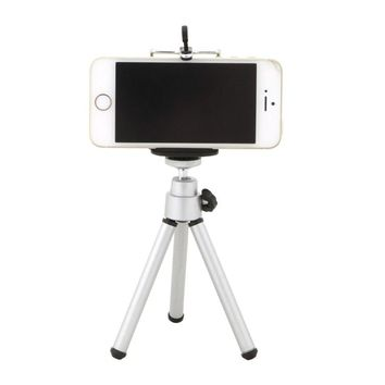 Aluminum alloy phone Tripod Stand with Rocker Arm For Cellphone Smartphone Canon Sony Nikon Compact Camera