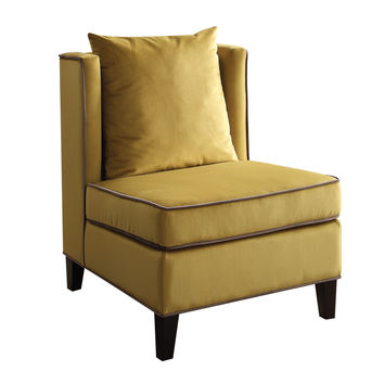 ACME Ozella Accent Chair in Yellow