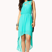 Crisscross High-Low Dress