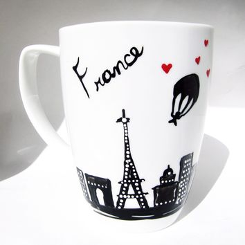 Long Distance Mug - Paris France Eiffel Tower