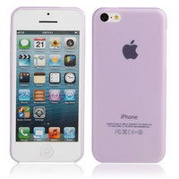 Ultra-thin ( 0.35mm ) Frosted Protective PC Case for iPhone 5C Purple - Default