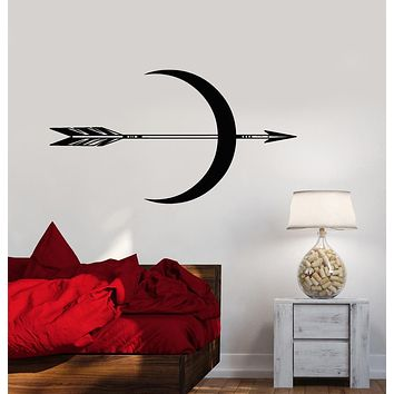 Vinyl Wall Decal Ethnic Style Bedroom Decor Arrow Crescent Stickers (2942ig)