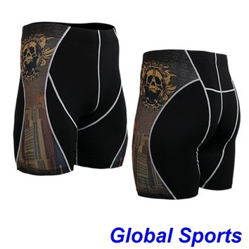 2017 brand men baseball shorts spandex beach boxer sexy sports wear surf elastic designer running shorts gym trunks