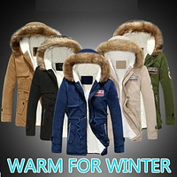 chaqueta hombre 2016 parkas male invierno casual coat Warm Military anorak Outwear manteau homme Man Thermal Winter Jacket Men