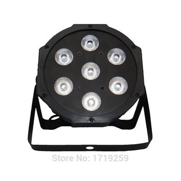 2017 LED Flat Par 7x 12W RGBW DMX Stage Lights Business Lights High Power Light with Professional for Party KTV Disco DJ