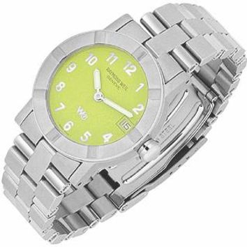 Raymond Weil Designer Women's Watches Parsifal W1 - Women's Lime Dial Stainless Steel Date Watch