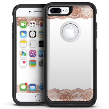 Rose Gold Lace Pattern 8 - iPhone 7 or 7 Plus Commuter Case Skin Kit
