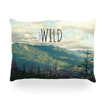 "Robin Dickinson ""Keep it Wild"" Oblong Pillow"