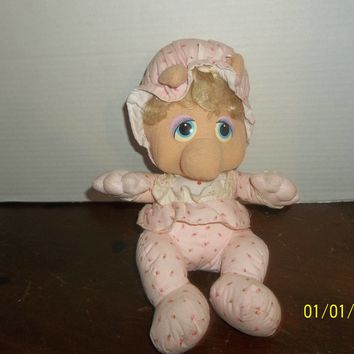 vintage 1984 hasbro softies pampers jim henson muppets baby miss piggy plush