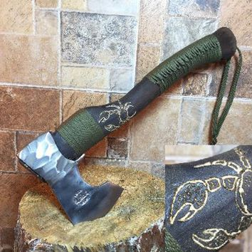 Viking axe, tomahawk, hatchet, anniversary gift, gift for her, iron gift, Mothers gift, gift for woman, gift for mother, gift for grandma