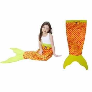 Mermaid Tail Soft Blanket For Kids