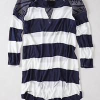 Patched Rugby Pullover