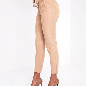 Prettylittlething Faux Suede Trousers