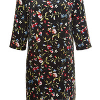 Aubrey Floral-Print Washed-Silk Dress