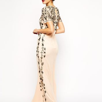 ASOS RED CARPET Baroque Embellished Fishtail Maxi