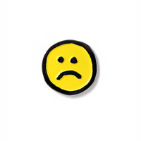 Frown Face Pin