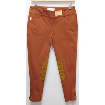 TS 1964 Rust w/ Tan Knee Patches Mid-Rise Side Zip