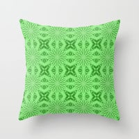 Green Fields Throw Pillow by 2sweet4words
