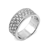 Jordan's Triple Row Imitation Diamond CZ Men's Ring