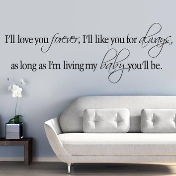 Quotes Wall Love You Forever Like You Always As Long