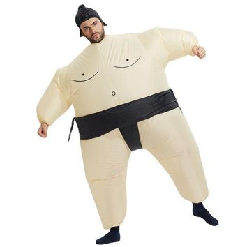 DCCKH6B 2017 New Inflatable Sumo Costume Halloween Mascot Costumes Party Fancy Costume Animal Costume For Adults With Free Shipping