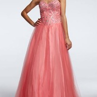 Strapless Prom Dress with Corset Bodice - David's Bridal