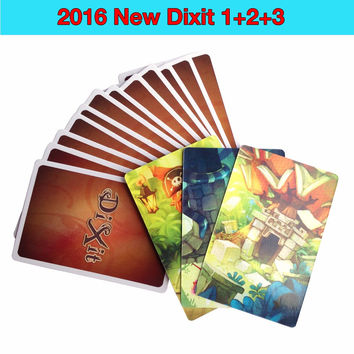 dixit 1+2+3 252 cards board game multi instruction offered high quality table game kid game cards game