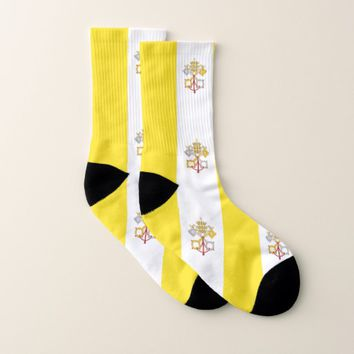 All Over Print Socks with Flag of Vatican