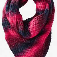OMBRE STRIPE ASYMMETRICAL INFINITY SCARF from EXPRESS