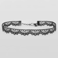 EMPIRE. Thin Black Lace Choker – REGALROSE