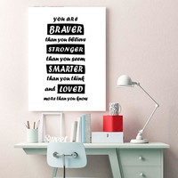 Modern Canvas Paintings In The Nursery Positive Quotes Wall Art Print Wall Picture For Baby Kids Bedroom Decorative Wall Decals