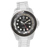 Invicta 16966 Men's Reserve Hydromax Black Dial Steel Bracelet GMT Dive Watch