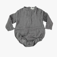 Tocoto Vintage Baby Girl Grey Body - W4715
