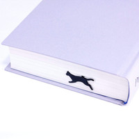 Jumping Cat Metal Bookmark