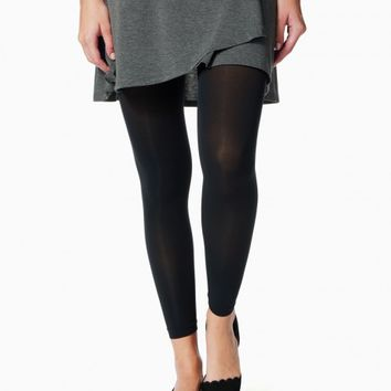 Slate Semi-Sheer Footless Tights | Charming Charlie